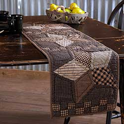 Farmhouse Star Tablerunner, 48 inch - Quilted