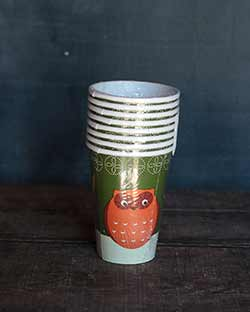 Fall Flora Paper Cups