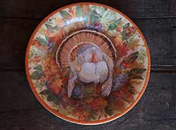 Turkey Wreath Paper Plates - Dinner