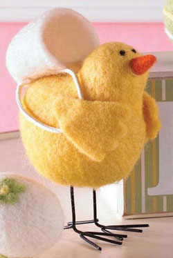 Small Felt Chick with Back Pack