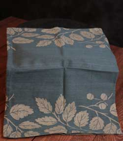 Teal Fall Jacquard Towel