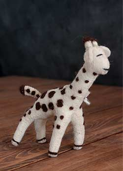 Giraffe Felt Ornament