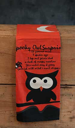 Spooky Owl Surprise Dishtowel