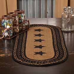 Farmhouse Jute Tablerunner - 36 inch (with Stars)