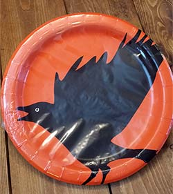 Spooky Party Crow Paper Dinner Plates