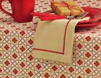 Chalet Napkin with Embroidery