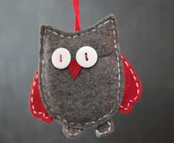 Owl Felt Ornament