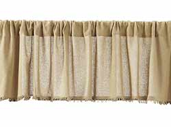 Tobacco Cloth Valance - Khaki (72 inch)