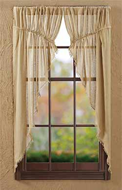 Tobacco Cloth Prairie Curtain - Khaki (63 inch)