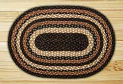 Mocha / Frappuccino Oval Jute Rug (Special Order Sizes)