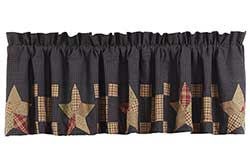 Arlington Valance with Block Border