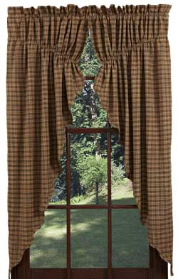 Barrington Prairie Curtain (Green Plaid)