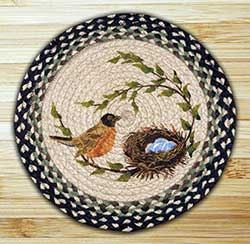 Robin's Nest Braided Jute Chair Pad
