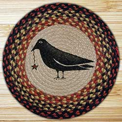 Crow Braided Jute Chair Pad
