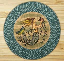 Mermaid Braided Jute Rug - Round