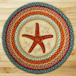 Star Fish Braided Jute Rug - Round