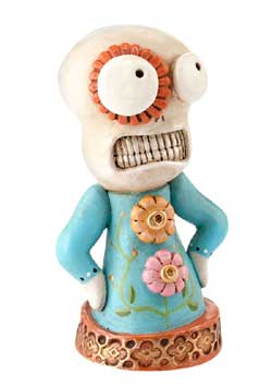 Day of the Dead Flower Skelly Figure