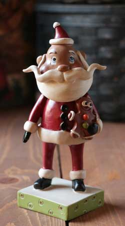 Santa with Gingerbread Figure