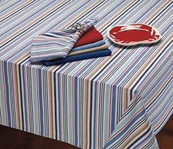 Boat Stripe Tablecloth - 60 x 84 inch