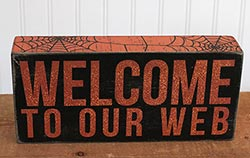 Welcome to Our Web Box Sign