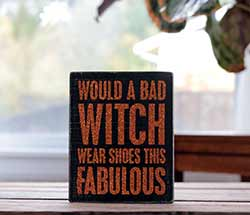 Bad Witch Box Sign
