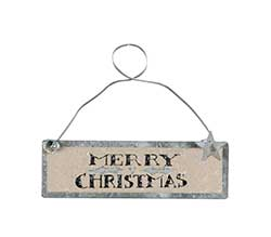 Merry Christmas Tin Sign