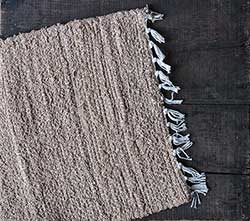 Burlap Natural Chindi Table Runner, 36 inch