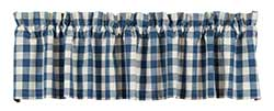 Picnic Blue Check Valance