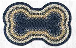 Light & Dark Blue Dog Bone Braided Rug