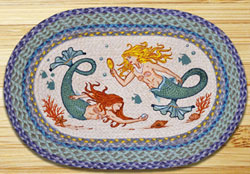Mermaids Braided Jute Rug