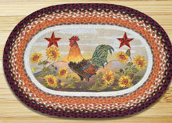 Morning Rooster Patch Rug