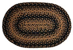 Ebony Black and Tan Braided Placemat