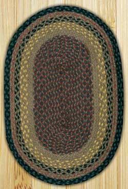 Brown, Black, and Charcoal Oval Jute Rug (Special Order Sizes)