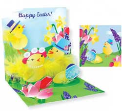 Garden Chicks Pop-up Card