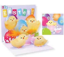 Chicks and Eggs Pop-up Card