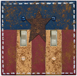 Americana Switchplate Cover - Double