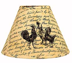 Rooster Lamp Shade - 10 inches