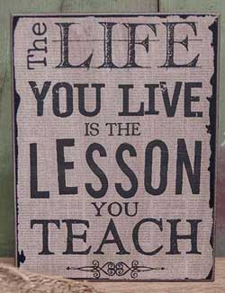 Lesson Vintage Standing Box Sign