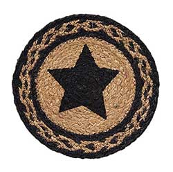 Farmhouse Jute Tablemat with Star - 8 inch