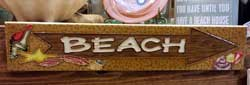 Beach Arrow Art Tile