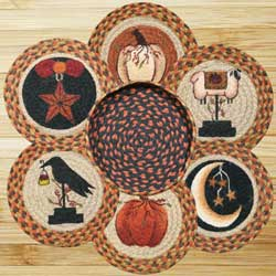 Autumn Braided Jute Trivet Set
