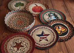 All Season Braided Jute Trivet Set