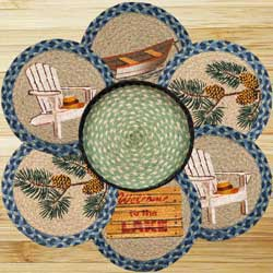 Welcome to the Lake Braided Jute Trivet Set