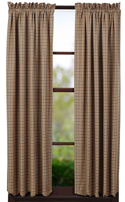 Millsboro Panels - 63 inch (Burgundy and Navy Plaid)