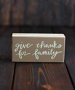 Give Thanks Fall Box Sign