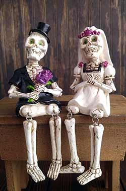 Day of the Dead Figurines Wedding Couple (Set of 2)