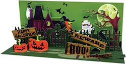 Haunted House  - Sight & Sound Pop-up Card