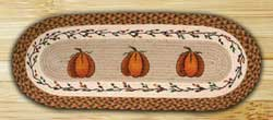 Harvest Pumpkin Oval Patch Runner, 36 inch