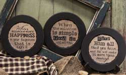 God Distressed Plates (Set of 3)