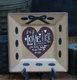 Love and Ribbon Square Plate